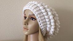 How To Crochet A Popcorn Stitch Slouchy Hat, Lilu's Handmade Corner Vide...