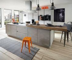 Trend Küche in Beton Grau - Design della cucina Kitchen Linens, Farmhouse Kitchen Decor, Kitchen Interior, Home Interior Design, Small Kitchen Plans, Design Simples, Black Cabinets, Kitchen Cabinets, Shabby Chic Kitchen