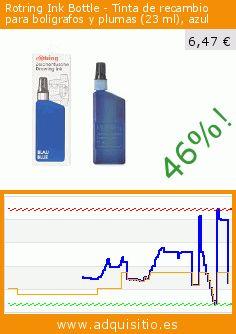 Rotring Ink Bottle - Tinta de recambio para bolígrafos y plumas (23 ml), azul (Productos de oficina). Baja 46%! Precio actual 6,47 €, el precio anterior fue de 11,89 €. https://www.adquisitio.es/rotring/zeichentusche-blau-f%C3%BCr