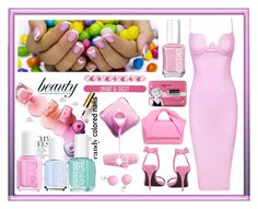 """""""Candy"""" by terry-tlc ❤ liked on Polyvore featuring beauty, Essie, Posh Girl, J.W. Anderson, Angélique de Paris, Alexander Wang, Simple Pleasures and sweetnails"""