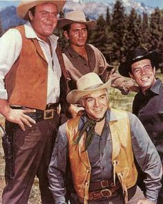 Bonanza - TV Western Shows - with Michael Landon, Lorne Greene, Pernell Roberts, Dan Blocker, this was probably the most popular TV western. lots of pics Sean Leonard, Bonanza Tv Show, Pernell Roberts, Michael Landon, Tv Westerns, Old Shows, Western Movies, Vintage Tv, Tv Guide