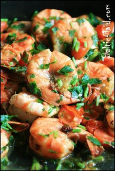 BalticMaid.Com |  Italian Prawns With Cherry Tomatoes