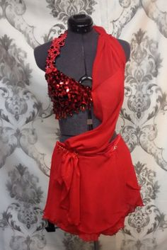 Lyrical 3 pc costume with sequins glass by RougeDanceCostumes