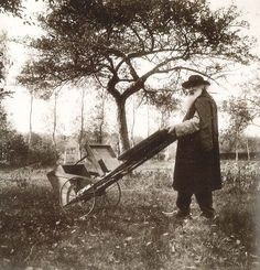 Pissarro with his easel