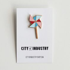 City of Industry Enamel Pinwheel Pin