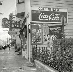 """San Francisco on Dec. 8, 1941. """"Japanese restaurant, Monday morning after the attack on Pearl Harbor."""""""