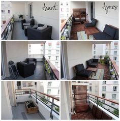 Avant / après de notre balcon ! Ikea applaro, runnen