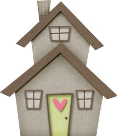 House Clipart, Scrapbook Images, House Template, Cute House, Glitter Houses, Penny Rugs, House Of Cards, Moving House, Applique Quilts