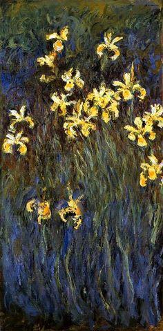 Yellow Irises Claude Oscar Monet - 1914-1917