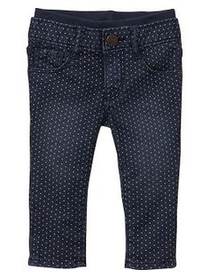Knit-waist skinny dot jeans | Gap [need to watch these - when they come on sale or go 40% they're mine [12-18]