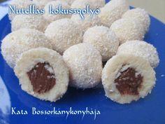 Nutellás kókuszgolyó recept lépés 3 foto Doughnut, Nutella, Muffin, Breakfast, Cake, Recipes, Food, Morning Coffee, Kuchen