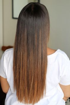 ombre brunette straight hair - Google Search