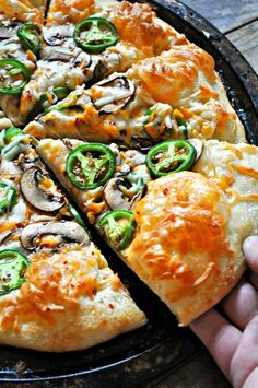 Vegan Jalapeno Popper Pizza is part of Vegan Jalapeno Popper Pizza Rabbit And Wolves - Fresh sliced jalapenos, smoky, salty, sweet mushroom bacon, vegan mozzarella and cheddar Hot and bubbly and amazing! Vegan Foods, Vegan Dishes, Vegetarian Recipes, Cooking Recipes, Healthy Recipes, Cooking Food, Beef Recipes, Vegan Jalapeno Poppers, Jalapeno Recipes