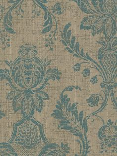 Interior Place - Turquoise Rustic Damask Medallion Wallpaper, 57.65 AU (http://www.interiorplace.com/turquoise-rustic-damask-medallion-wallpaper/)