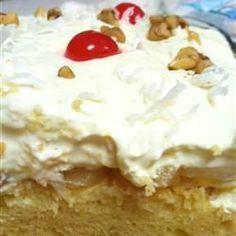 Hawaiian cake. My favourite birthday cake :)
