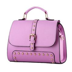 Saint Girl 2016 Women s Handbags Famous Brand Candy Rivet Cover Shoulder Bag  Fashion Women PU Leather 0027f6406a52e