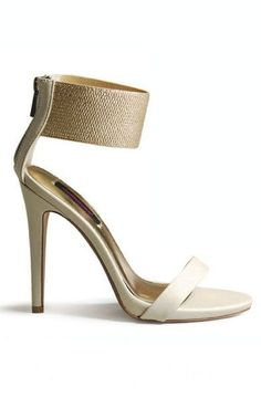 Dearly Beloved Ankle Cuff Heels - Ivory All sizes but 5 & Up to 11 Fab Shoes, Pretty Shoes, Crazy Shoes, Me Too Shoes, Shoes Heels, High Heels, Nude Sandals, Dress Shoes, Dance Shoes