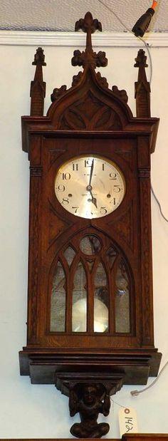 Gothic regulator wall clock