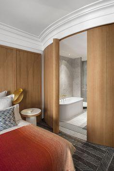 hôtel vernet refurbishment - paris - françois champsaur - 2014 - suite + bathroom