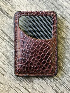 A Genuine Alligator Front Pocket Wallet Built Just For You. Lined With Real Carbon Fiber. Best Wallet, Slim Wallet, Christmas Gifts For Boyfriend, Boyfriend Gifts, Best Gifts For Men, Cool Gifts, Alligator Wallet, Front Pocket Wallet, Cool Gear