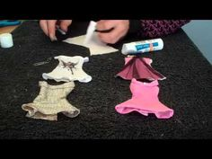 How to make Doll Clothes (Dress) - YouTube