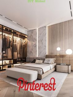 Awesome Luxury Modern Master Bedroom Design will Inspire You - home decor update Master Bedroom Interior, Luxury Bedroom Design, Modern Master Bedroom, Modern Bedroom Furniture, Contemporary Bedroom, Home Decor Bedroom, Modern Interior Design, Furniture Sets, Bedroom Designs