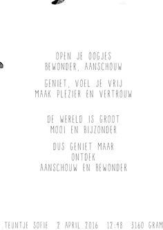 Gewoon JIP. |Gedichten | Kaarten | Posters | Stationery | & meer © sinds feb 2014 | A3 poster met persoonlijke toevoeging | Geleverd in koker | Leuk om in te lijsten of op te hangen in de babykamer | Baby gift | New Born | Cadeautje voor geboorte | inspiratie babykamer | poster | persoonlijk cadeau |