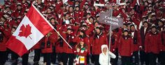 Clara Hughes.  So proud of her as a flag bearer!