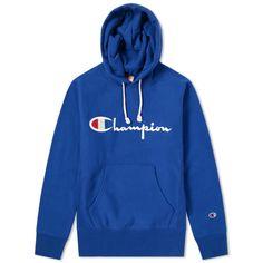 73b55df4108e Champion Reverse Weave Script Logo Hoody Royal Blue 1 Red Champion Hoodie,  Champion Gear,