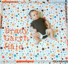 Baby Name Quilt with all tutorials on how to piece it, baste it, quilt it, and bind it.