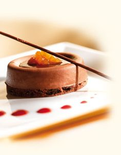 Callebaut - Savarin - Dark Chocolate Mousse with Caramelized Pears