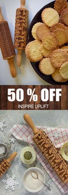Finally, an easy way to prepare the most beautiful and original Christmas cookies in just minutes! This unique, Christmas Rolling Pin would make a perfect Christmas gift for your wife, mother, friends (women or men) or anyone who loves to bake and loves the magic of Christmas! Currently 50% OFF with FREE Shipping!