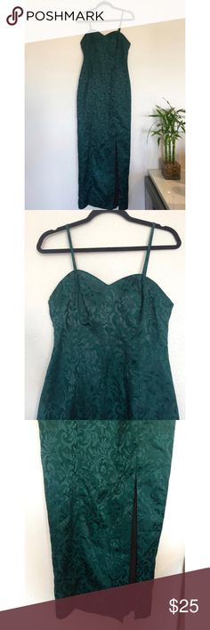 "Vintage Tender Loving Care evening gown Green Tender loving Care evening gown  Approximate Size S Measurements: Bust 32"" Waist 30"" Hips 40"" Length 58"" Slit is 21"" from bottom hem Tender Loving Care Dresses Maxi"