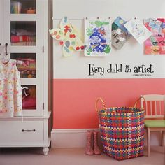 Just bought this for the new art wall that I'm making in the kids room! So excited!