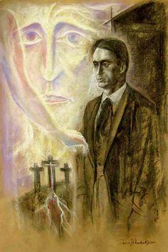 Rudolf Steiner standing at Golgotha by David Newbatt