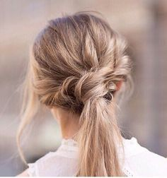 Hair hair styles hair color hair cuts hair color ideas for brunettes hair color ideas My Hairstyle, Messy Hairstyles, Pretty Hairstyles, Hairstyle Ideas, Beach Hairstyles, Formal Hairstyles, Headband Hairstyles, Wedding Hairstyles, Twist Ponytail