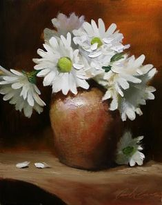 """Daily Paintworks - """"Gerber Daisies"""" - Original Fine Art for Sale - © Justin Clements"""
