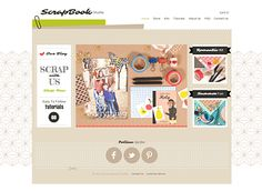 Scrapbook Studio Template - A scrapbook-style template perfect for arts and crafts enthusiasts. Showcase your goods in multiple galleries and share video tutorials and tips with site visitors. Customize the design and color scheme to express your creative flair!