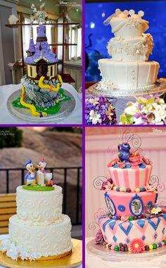 Disney themed wedding cake