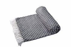 EHC Tagesdecke Decke Super Weiche Baumwolle Große wendbar Double Sofa überwürfen Bett Stuhl, 150x 200cm, schwarz