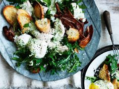 For a healthy lunch or dinner, try this delicious kale caesar salad. Tender chicken, toasted sourdough and crispy bacon are tossed with kale and topped with a vitamin-rich green goddess dressing.
