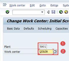 Work Center in SAP PP