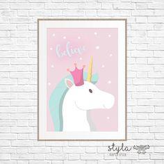 Licorne magique pastel crois Print par StylaPrintsAndDesign sur Etsy