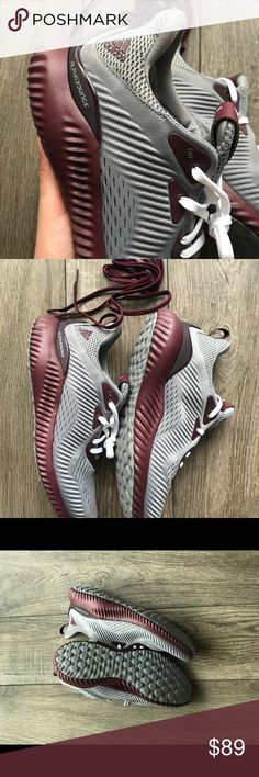 buy popular 3c5ec 16a7f Adidas Alphabouce Burgundy men s sneakers size 8.5 Brand New with box  Simple,sleek and