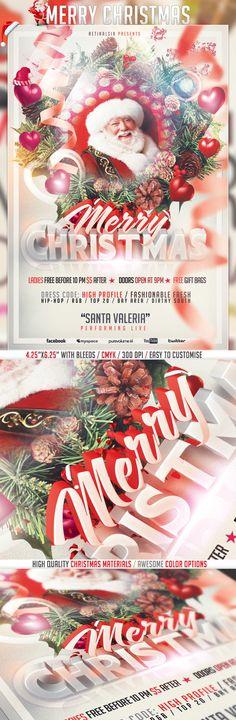 PSD Merry Christmas Flyer Template / HQ by Serhat Özalp, via Behance