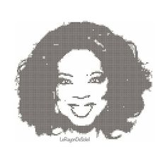 Oprah cross stitch pattern Oprah Winfrey pattern modern cross