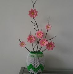3D Origami - Blossom Vase