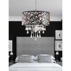 Indoor 4-light Chrome Antique Bronze Chandelier - Overstock™ Shopping - Great Deals on Otis Designs Chandeliers & Pendants