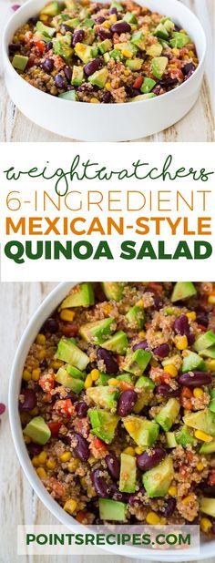 6-Ingredient Mexican-Style Quinoa Salad (Weight Watchers SmartPoints)