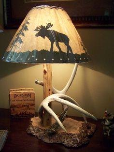 Moose & Antler lamp